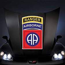 Amazon Com Us Army 82nd Airborne Division W Ranger Tab Ssi 20 Huge Decal Sticker Automotive