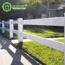 China 16 Ft 3 Rail Vinyl Horse Fencing Cost Effective China Vinyl Horse Fencing Vinyl Horse Fence