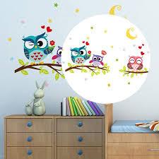 Cute Removable Waterproof Cartoon Animal Owl Wall Sticker Kids Room Decals Walmart Com Walmart Com