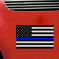 Blue Lives Matter Police American Thin Line Flag Car Decal Sticker Reflective Ebay