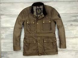 men roadmaster jacket brown waxed