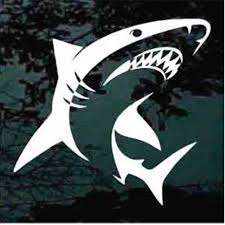 Shark Car Decals Stickers Decal Junky