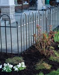 Triple Arch Fence Section Black Garden Mall