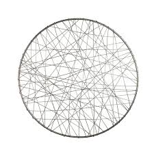 26 inch round metal wire wall decor