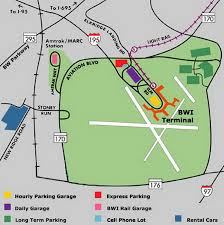 bwi airport parking map jpg