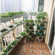 Balcony Flower Holder Bar Green Rose Flower Stand Balcony Flower Pot Hanging Fence Shopee Philippines