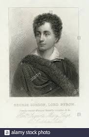 George Gordon, Lord Byron. Sanders, George (1774-1846) (Artist). Emmet  Collection of Manuscripts Etc. Relating to American History Old New York or  Stock Photo - Alamy