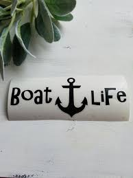 Boat Life Decal I Boat Life I Decals I Boat Decal I Etsy