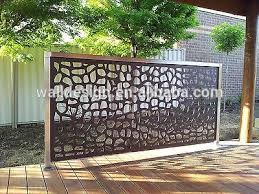 decorative metal fence panels used for