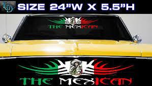 1 Mexican Mexico Flag Racing Car Decal Vinyl Sticker The Mexican 22 40 Picclick