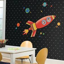 Rocket Giant Wall Decals Roommates Decor