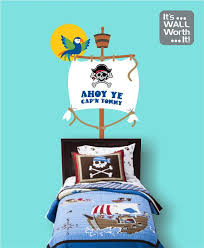 Pirate Ship Mast With Parrot Child S Name Vinyl Wall Decal Boy S Bedroom Wall Decal Danes Pirate Room Ii Wall Decals For Bedroom Vinyl Wall Decals S