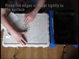 How To Shabby Chic Furniture 3 Water Decal Print Transfer Youtube