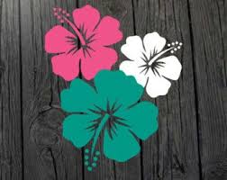 Car Decals On Etsy A Global Handmade And Vintage Marketplace Vintage Flowers Wallpaper Flower Stencil Hawaii Wall Decor