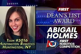 Abigail Holmes Makes the Dean's List in Robotics World | LongIsland.com