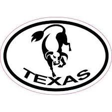 3in X 2in Oval Longhorn Texas Sticker Vinyl Luggage Decal Car Stickers Walmart Com Walmart Com