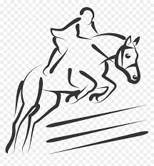 Horse Jumping Silhouette Png Png Download Equestrian Horse Jumping Silhouette Transparent Png Vhv