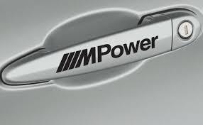4 X Bmw M Power Door Handle Decals Stickers Hmcustom Online Shop