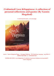 unlimited love happiness a collection of personal reflections an