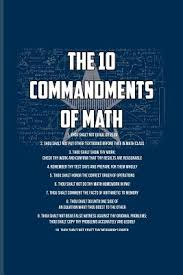 the commandments of math funny math quote journal for teachers