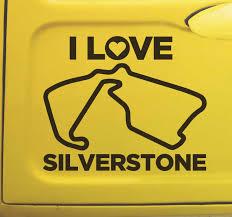 Silverstone Race Track Car Sticker Tenstickers