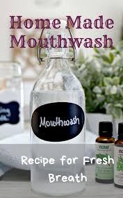 mouthwash recipe for fresh breath
