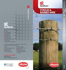 Hurricane Staples Barbed Wire Product Guide By Steel Tube Issuu