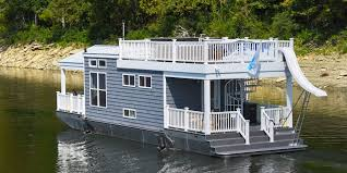 tiny houseboat on water tiny houses