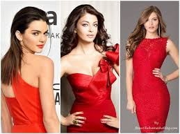 makeup looks for red dress