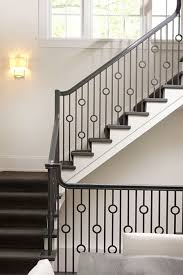Lovely Metal Railing With Circle Details Modern Stair Railing Stair Railing Design Stairs Design