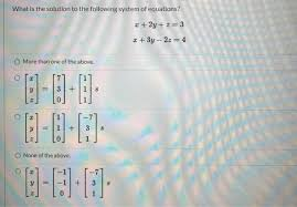 a system of three linear equations in