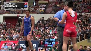 75kg Finals (2 of 2), Adeline Gray, New York AC vs Jackie Cataline, Titan  Mercury WC - YouTube