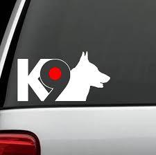 K 9 German Shepherd K9 Dog Decal Sticker For Car Window B1103 Etsy