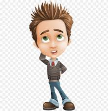 boy vector cartoon character set