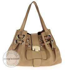 jimmy choo tan stamped leather large