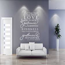 Oversized Bible Psalms Spirit Fruit Vinyl Carved Wall Decal Art Design Original Fashion Simple Home Decor Wall Sticker Sp 040 Wall Stickers Aliexpress