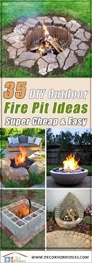 35 best diy outdoor fire pit ideas