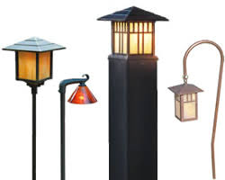 art deco and mission style path lights
