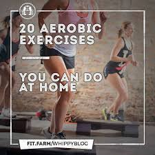 20 aerobic exercises you can do at home