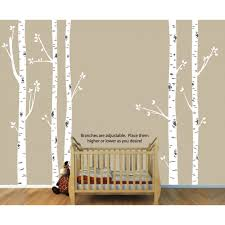 Birch Tree Wall Decals With Large Tree Wall Sticker For Play Rooms