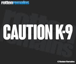Caution K 9 Decal 9 X2 Police Dog White Reflective Vinyl Window Sticker V2