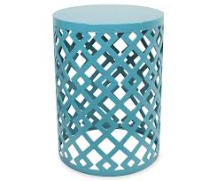 fisher turquoise metal garden table