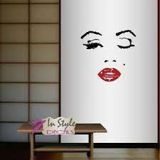 Vinyl Decal Beautiful Girl Woman Face Wink Hair Style Make Up Wall Sticker 1293 Ebay