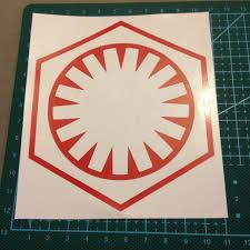 Red Vinyl Star Wars First Order Decal Sticker Approx Depop