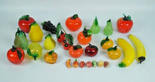 28pcs decorative glass fruit