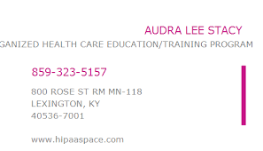1124523196 NPI Number | AUDRA LEE STACY | LEXINGTON, KY | NPI Registry |  Medical Coding Library | www.HIPAASpace.com © 2020