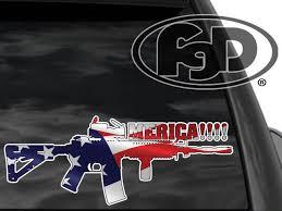 Fgd Pro Gun Window Decal M4 Merica 12x4 5 Sticker For Sale Online Ebay