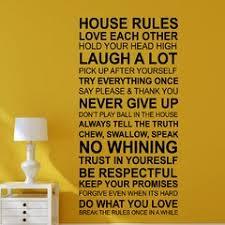 House Rules Wall Decal Wayfair