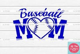 Baseball Mom Vinyl Decal Sticker Baseball Mom Etsy