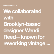We collaborated with Brooklyn-based designer Wendi Reed—known for reworking  vintage sweaters into one-of-a-… | Reworked vintage, Vintage sweaters, Crew  neck sweater